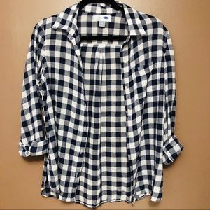 Old Navy • Blue/White • Button-Down Shirt • Small